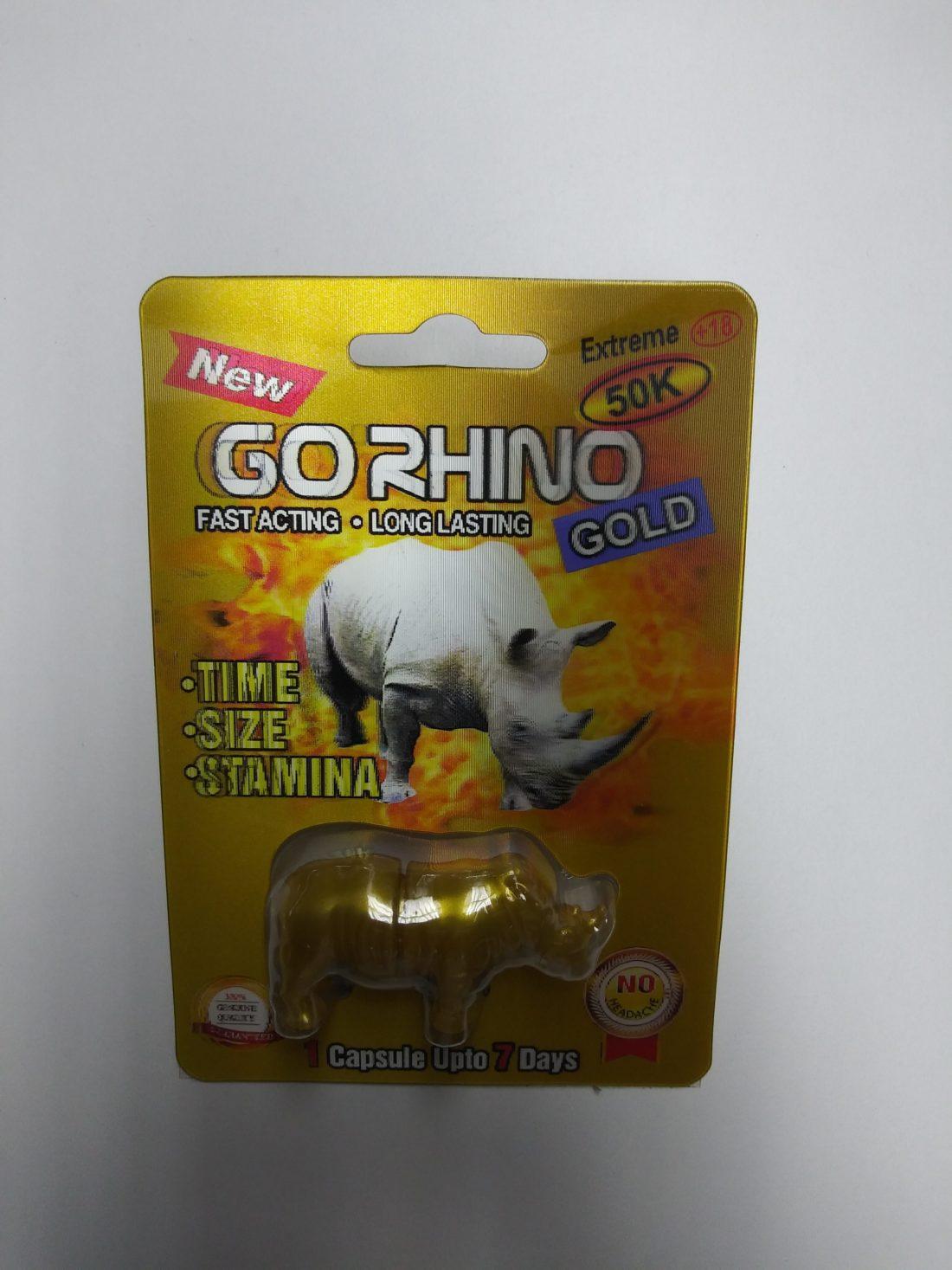 24 Count Go Rhino Gold 50k Male Sexual Enhancement Pills